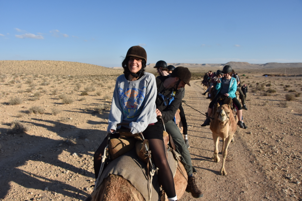 Camel riding with BJE 2016 particpants